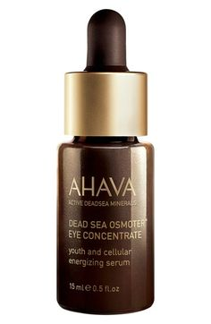 Free shipping and returns on AHAVA Dead Sea Osmoter™ Eye Concentrate at Nordstrom.com. AHAVA Dead Sea Osmoter Eye Concentrate is a triple-charged super-serum for eyes that reduces dark circles, decreases undereye puffiness and moisturizes the eye area. It works by adding more moisture, luminosity and clarity to your skin for a younger, lit-from-within glow.How to use: Gently apply a small, pea-sized amount around the eye area morning and night. For enhanced results, follow with a firming…