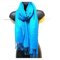 """Pashmire Blue Fashion Scarf Blue scarf. New in original packaging. Length 70"""", Width 25"""". L. 40% Acrylic, 60% Viscose. Pashmire Accessories Scarves & Wraps"""