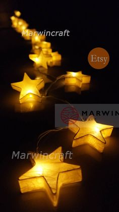 Yellow Mulburry Paper String Lights Star Fairy Lights Bedroom Home Decor Living Room Wall Hanging Li Dorm Lighting, Unique Lighting, Iq Puzzle, Wall Hanging Lights, Star String Lights, Eclectic Rugs, Wood Lamps, Paper Stars, Home Decor Styles