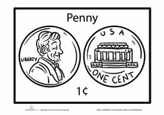 """""""letter p- penny"""" Worksheets: Penny Coloring Page"""