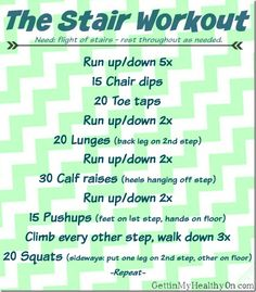 Get your cardio on with some bodyweight exercises thrown in with this simple stair workout #moveinmay