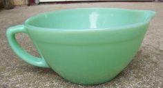 "Fire-King Jadite/ Jadeite 7 1/7"" Batter Bowl Oven Wear 1940's -1959's  by nanasopentrunk for $49.99 #zibbet"