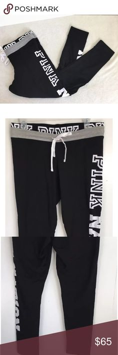 Victoria's Secret PINK Nation L lCampus Leggings Victoria's Secret PINK Nation Size L large Black Campus Leggings Pants in new condition PINK Victoria's Secret Pants Leggings