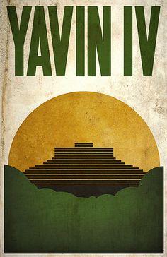 Star Wars: Yavin IV Poster by Justin Van Genderen Star Wars Poster, Star Wars Art, Star Trek, Wall Art Prints, Fine Art Prints, Star Wars Planets, Minimalist Poster, Minimalist Design, Geek Art
