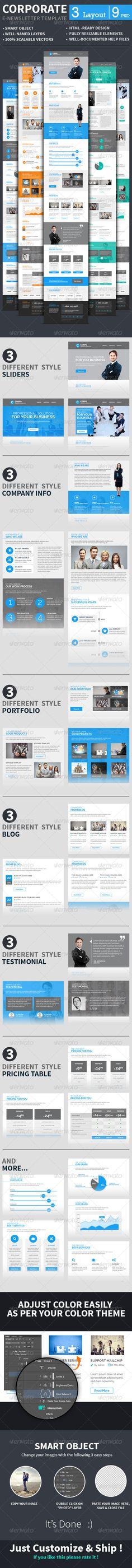 Versatile Newsletter Template Newsletter templates - email newsletter template