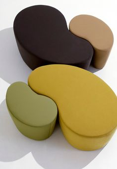 Cube is a pouf with shrink-resistant rubber padding and upholstery in fabric, skay (eco-leather) or leather. It is available in two sizes (Cube small, Cube big). The pouf can also be completed by a painted. Ottoman Design, Sofa Design, Furniture Design, Unique Furniture, Interior Design, Outdoor Furniture, Ottoman Furniture, Cube Furniture, Ottoman Sofa