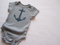 My kid would rock this Anchor onesie from Eight Baby Legs on etsy