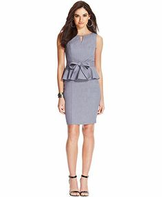 XOXO Sleeveless Belted Peplum Dress