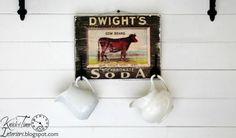 Antique Cow Advertisement - Wooden Wall Art Coat Hook
