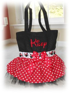 Minnie Mouse Inspired Tutu Ballet Bag Tote by EmbroideryStar, $29.99