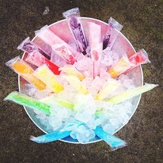 Popsicles - what a fun way to display them! #pier1outdoorparty #mc #sponsored
