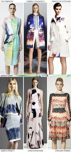 Resort 2013 Recap: Abstract Artist - Fashion Trends via Aaryn West, love the middle dark jacket