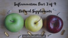 Inflammation Part 3 of 4: Natural Supplements