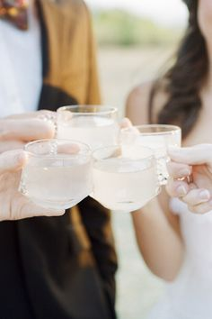 vintage punch cups! while your guests wait for the ceremony to start!