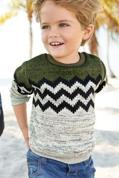 Buy Green Chevron Knit Look Jumper (3mths-6yrs) online today at Next: United…