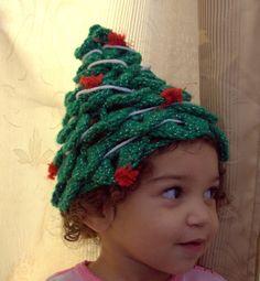 crocheted christmas hat (Etsy) $25.00