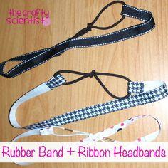 Ribbon + Rubber Band Headbands