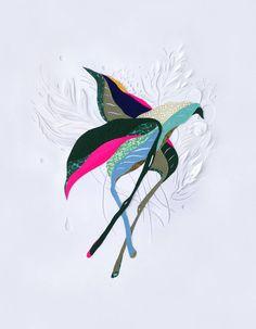 Colorful Compositions of Cut Paper – Fubiz Media