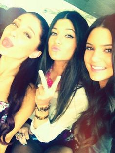 Ariana, Kendall and Kylie