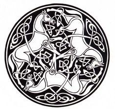 ❤~ Mandala ~❤ Caballos Celtas