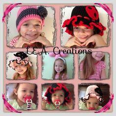 Child's Bonnet hat by LEACreations on Etsy, $10.00