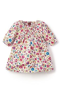Tea Collection 'Mercado Rodriguez' Smocked Floral Print Dress (Baby Girls) available at #Nordstrom