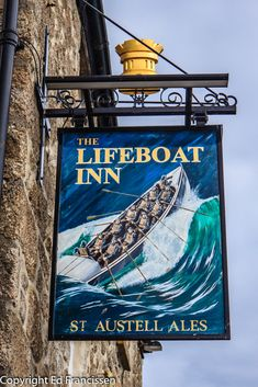 Sign of a pub in St Ives, England. British Pub, British Country, City Pub, Uk Pub, Metal Signage, Nautical Signs, Around The World In 80 Days, Pubs And Restaurants, Pub Signs