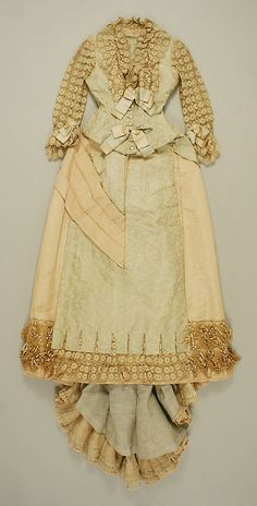 Dress (front view) Date: 1883 Culture: American Medium: silk Accession Number: 35.134.1a, b