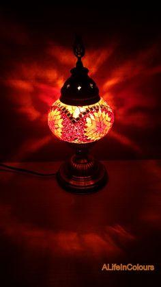 Turkish Handmade Colourful Glass Mosaic Table Lamp, Bedroom Night Lamp, Night  Light, Kidu0027s Bedroom Lamp | Night Lamps, Custom Checks And Mosaics
