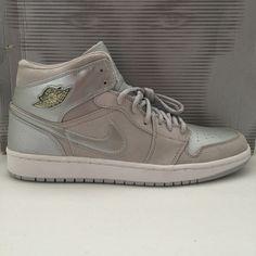 b20f90832b3c DS 2001 Nike Air Jordan 1 + I RETR0 Metallic Silver Size 12