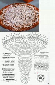 Medium Crochet Table Topper and Diagram. Filet Crochet, Crochet Doily Diagram, Crochet Stitches Patterns, Crochet Chart, Thread Crochet, Crochet Motif, Crochet Doilies, Crochet Flowers, Knit Crochet