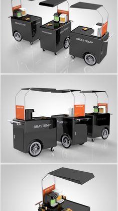 Mobile Food Cart, Mobile Bar, Mobile Shop, Food Cart Design, Food Truck Design, Foodtrucks Ideas, Mobile Coffee Shop, Velo Cargo, Container Shop