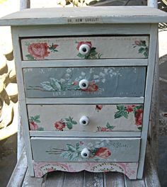 Little Beach Designs  Up-cycled chest of drawers