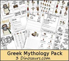 3 Dinosaurs - Greek Mythology Pack