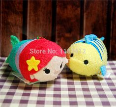 Aliexpress.com: Acheter D'origine japon Tsum Tsum peluche jouets Cute Little Mermaid Ariel flet Sebastian ensemble de 3 Kawaii peluches Smartphone Cleaner de vêtements jouets fiable fournisseurs sur HAPPY TOY ClUB