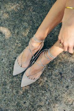 lace up flats — via @TheFoxandShe