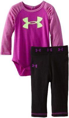 6% Off was $34.99, now is $32.99! Under Armour Baby-Girls Newborn Raglan Bodysuit Set