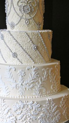 """ Elegance Defined"" Wedding Cake"