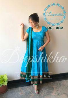 Kurta Designs Women, Kurti Neck Designs, Kurti Designs Party Wear, Salwar Designs, Indian Long Dress, Indian Gowns Dresses, Dress Indian Style, Kalamkari Dresses, Ikkat Dresses