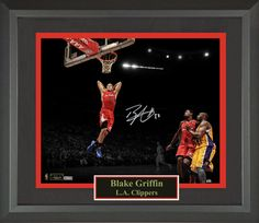 Blake Griffin Autographed Photo Framed Display