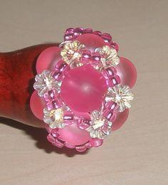 Swarovskiblumen in pink