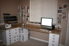 Jetmax cubes and a counter top; I'm doing this with my craft room.