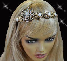 Princess tiara crown Tudor Tiara Sea by VirjinyaCVDesign on Etsy