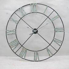 extra large huge vintage chic style skeleton metal giant wall clock 110cm