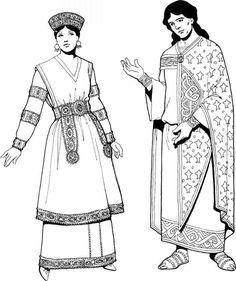 Byzantine Clothing Byzantine Empire ancient look woman look 3 men look 2
