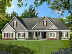 Greater Living Architecture in Rochester, NY provides premier home plans for any stage of life from Starter to Luxury to Empty Nester homes. Ranch Home Floor Plans, Simple Ranch House Plans, Open Floor House Plans, Farmhouse Floor Plans, Garage House Plans, House Plans One Story, Bedroom Floor Plans, New House Plans, Small House Plans