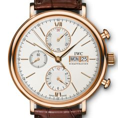 IWC Portofino Chronograph in Red Gold (See more at En/Fr/Es: http://watchmobile7.com/articles/iwc-portofino-chronograph) (2/5) #watches #montres #relojes #iwc @IWC Watches