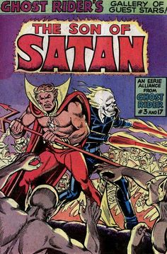 Son of Satan and Ghost Rider. Comic cover