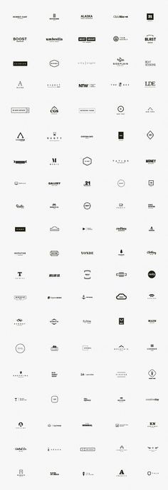 A premium kit of 100 minimal logos designed by DesignDistrict.