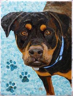 amazing mosaic dog
